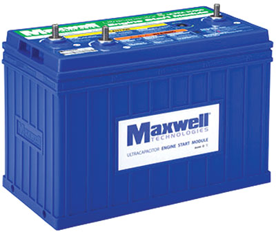 Maxwell Technologies now offers a 24-volt ultracapacitor-based Engine Start Module (ESM)