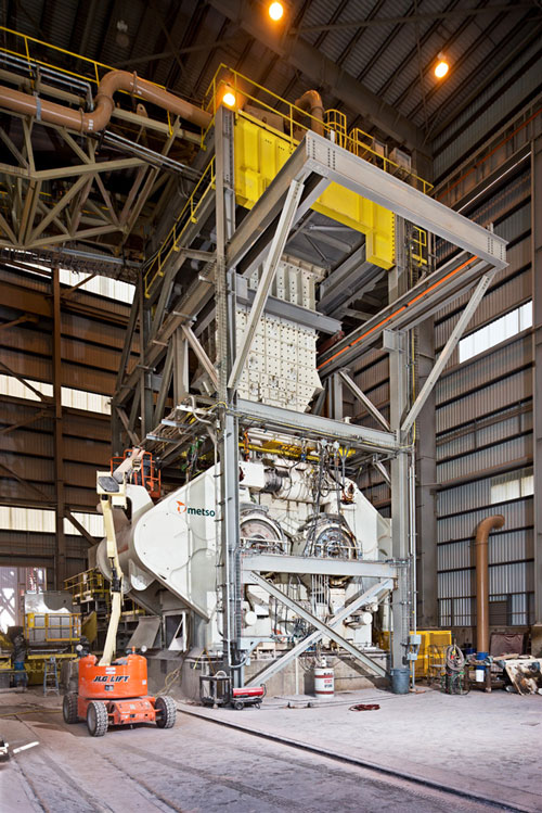Engineers from Freeport worked with Metso to develop the technology for the Hydraulic Roll Crusher (HRC).