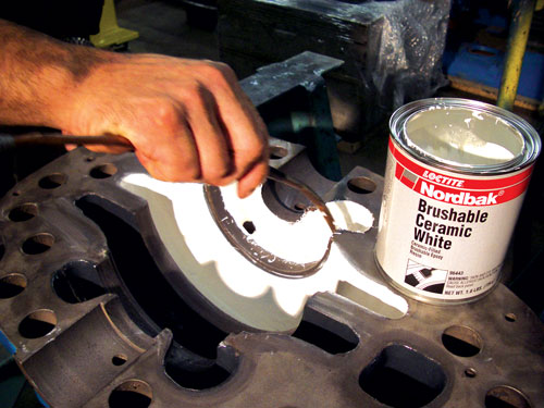 Brushable epoxy compounds, such as the kind shown here being applied, are just one of several different types of wear-resistant ceramic coatings that cover a wide range of possible applications.