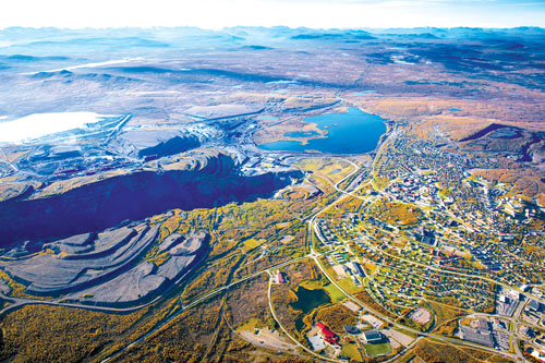 Northern mining operations, such as Kiruna, are often located in areas where surface water has to be managed differently depending on the time of year. (Photo courtesy of LKAB)