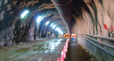 Progress on tunneling works at Chuquicamata Underground.