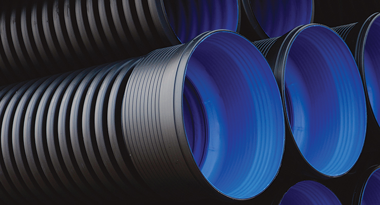 Available in diameters from 100 mm to 600 mm, Polypipe Rigidrain is lightweight yet has a structured wall design that provides high ring stiffness and strength.