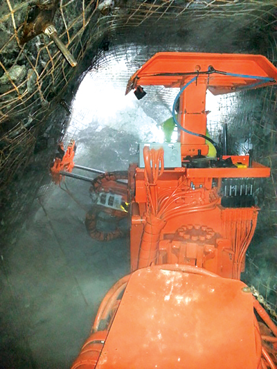 Fletcher's roof-support rig is designed to make narrow-vein mining safer, with less physical input for the operators.
