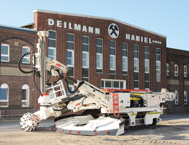 Pictured outside the DHMS factory is one of three roadheaders purchased by a Turkish coal producer to conduct underground development in tough rock conditions.