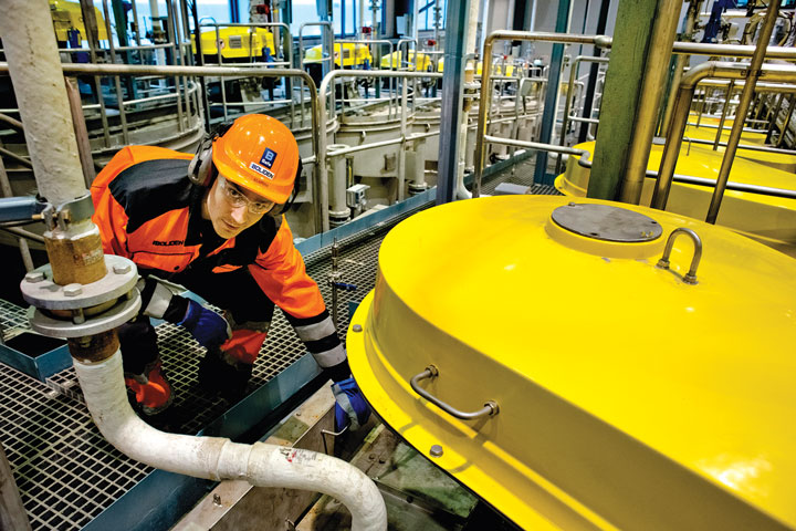 The new silver-recovery plant at the Kokkola zinc smelter in Finland. (Photo: Boliden)