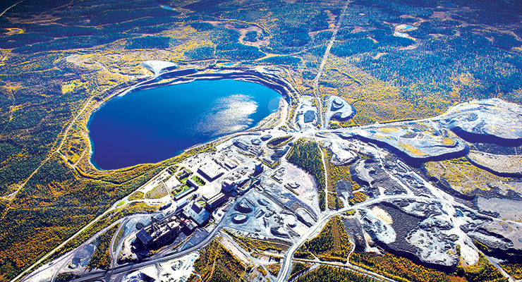 The iron-ore processing plant at Svapavaara, where LKAB now has all three open-pit mines permitted. (Photo: LKAB)