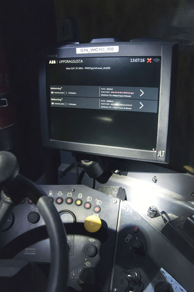 The Rugged JLT computer has been placed in the cab of a mining vehicle at one of Boliden's Swedish gold mines, highlighting its versatility and durability. Inset: The VERSO 12 is one of the latest in a range of touch-screen rugged tablets introduced by JLT.
