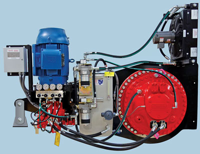 The Hägglunds TADS unit features fast hydraulic pump compensators that can reduce wear and extend service life.