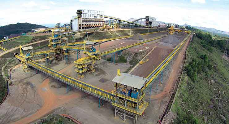 The Vargem Grande Itabiritos project (above) is one of four major investments Vale has made in Minas Gerais.