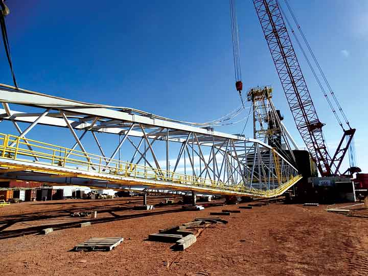 The cost to repair major dragline components often starts in the million-dollar range and can jump to double-digit millions when key elements, such as the boom, are involved. (Photo: CCC Group)