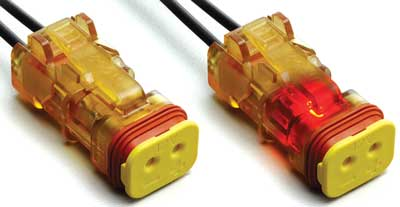 Illuminated Connector Positively Indicates Power-on