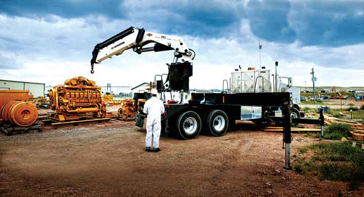 All of IMT's truck-mounted cranes have been designed for use in rugged terrain.