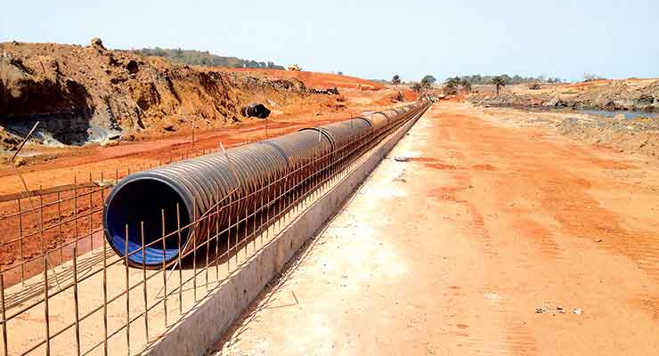 According to Polypipe, HDPE pipe products for mine applications can be supplied in longer lengths than other traditional pipe fabrication materials, offering reductions in installation labor and leakage problems.