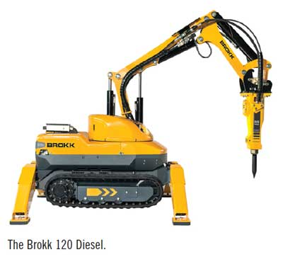 The Brokk 120 Diesel.