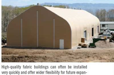 What Approach is Best for Work-site Buildings—Concrete, Steel or Fabric?