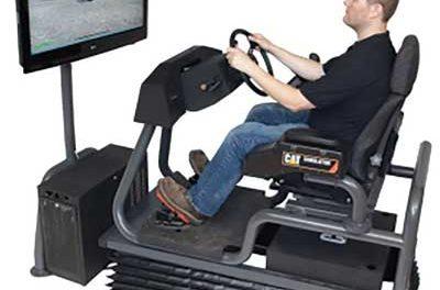 Simulator Trains Operators on Cat Off-highway Truck