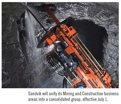 Sandvik Unifies Mining & Construction Business Groups