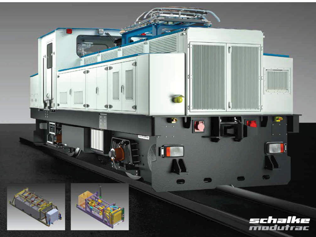 Schalke's MMT-M-270_BDE ModuTrac locomotives are available in sizes up to 40 metric tons (mt) and feature a central cab. Each set of wheels is driven by a 135-kW AC electric traction motor. Units also are equipped with two liquid-cooled IGBT-controlled traction converters, making it possible to control each set of wheels individually.