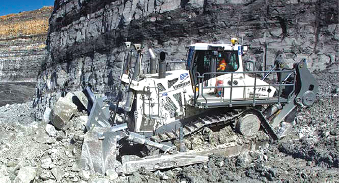 Designed for mining, the Liebherr PR776 takes hydrostatic-drive dozing to a new level.