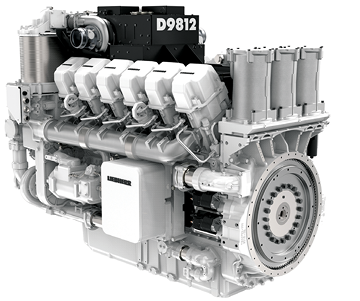 Liebherr's D98 series diesels will be available in three versions: a V12, shown here, followed by V16 and V20 configurations.