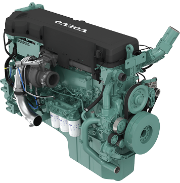Volvo Penta's new 16-liter engine, the TAD1643VE-B shown here, has been tested in underground mining mobile-equipment applications.