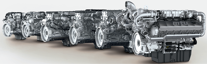 MTU's Series 1000 to 1500 engines are jointly developed by MTU and Daimler, based on Daimler commercial vehicle engines, to meet EU Stage V regulations. These engines meet future EU Stage V emission limits using advanced internal engine technology, an SCR system and an additional diesel particulate filter.