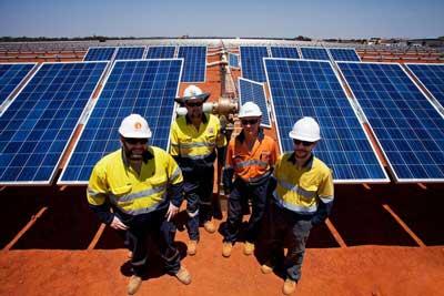 Degrussa Solar Plant
