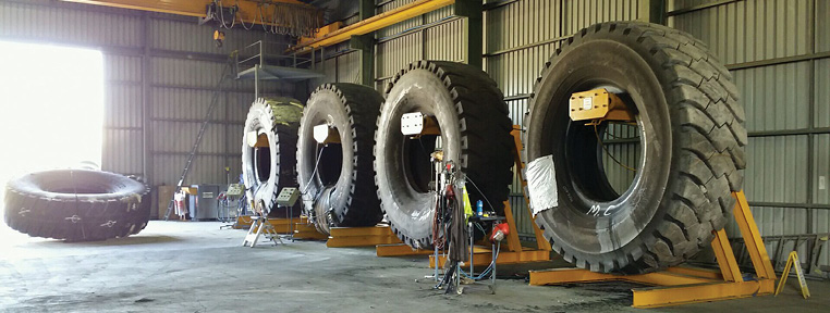 Kal Tire's new facility, located in Australia's Hunter Valley coal district, has the capacity to repair all mining tire sizes up to 63-in. diameter.