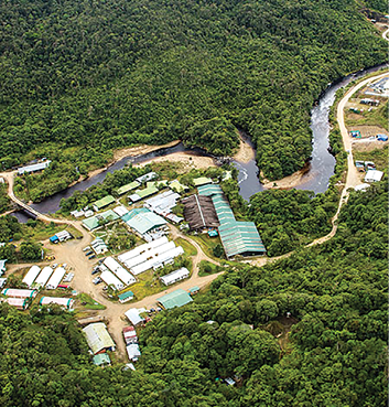 Aerial view of the Las Peñas construction camp at the Fruta del Norte project. (Photo: Lundin Gold)