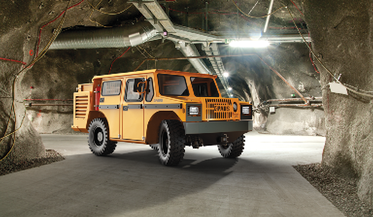 The new Paus MinCa utility vehicle offers a choice of three power options: conventional diesel, hybrid or battery.
