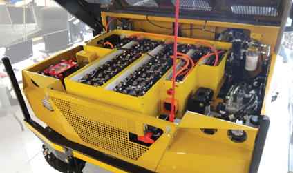 Battery-powered vehicles such as the MineUte UT150-eMV have an advantage over diesel equipment underground in that the electric drivetrain by itself causes no requirement for ventilation.
