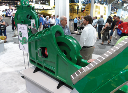Engineers will be available at Columbia Steel's stand (seen here in 2012) to discuss the right design and alloys.