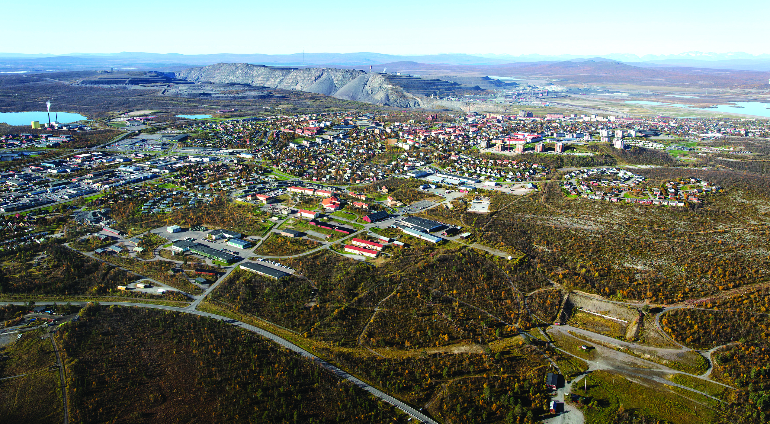 Surface subsidence resulting from underground mining will eventually require much of the Kiruna community to be relocated, at a possible total cost of $3-3.6 billion.