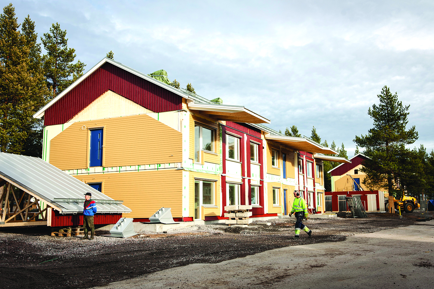 New housing being built in Gällivare, as part of LKAB's 'urban transformation' program.