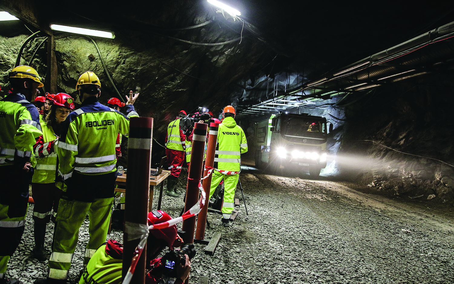 Human drivers may become a thing of the past if field testing of driverless Volvo trucks at Boliden's Kristineberg underground mine proves successful.