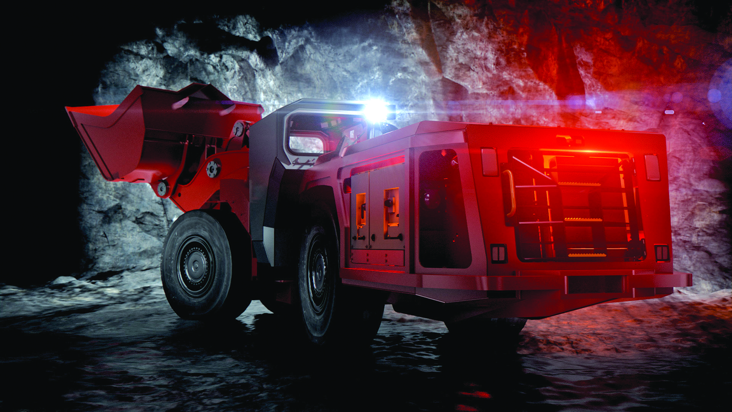 Using a 'quick charge' station, Sandvik LH307B can be ready for use in approximately 15 minutes.
