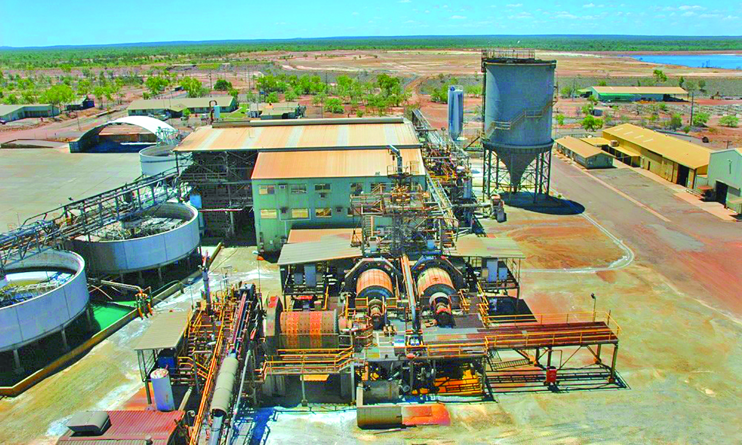Red River Resources reports work is under way on renovating the 600,000-mt/y-capacity Thalanga zinc mill, which has been inactive since 2012. (Photo: Red River Resources)