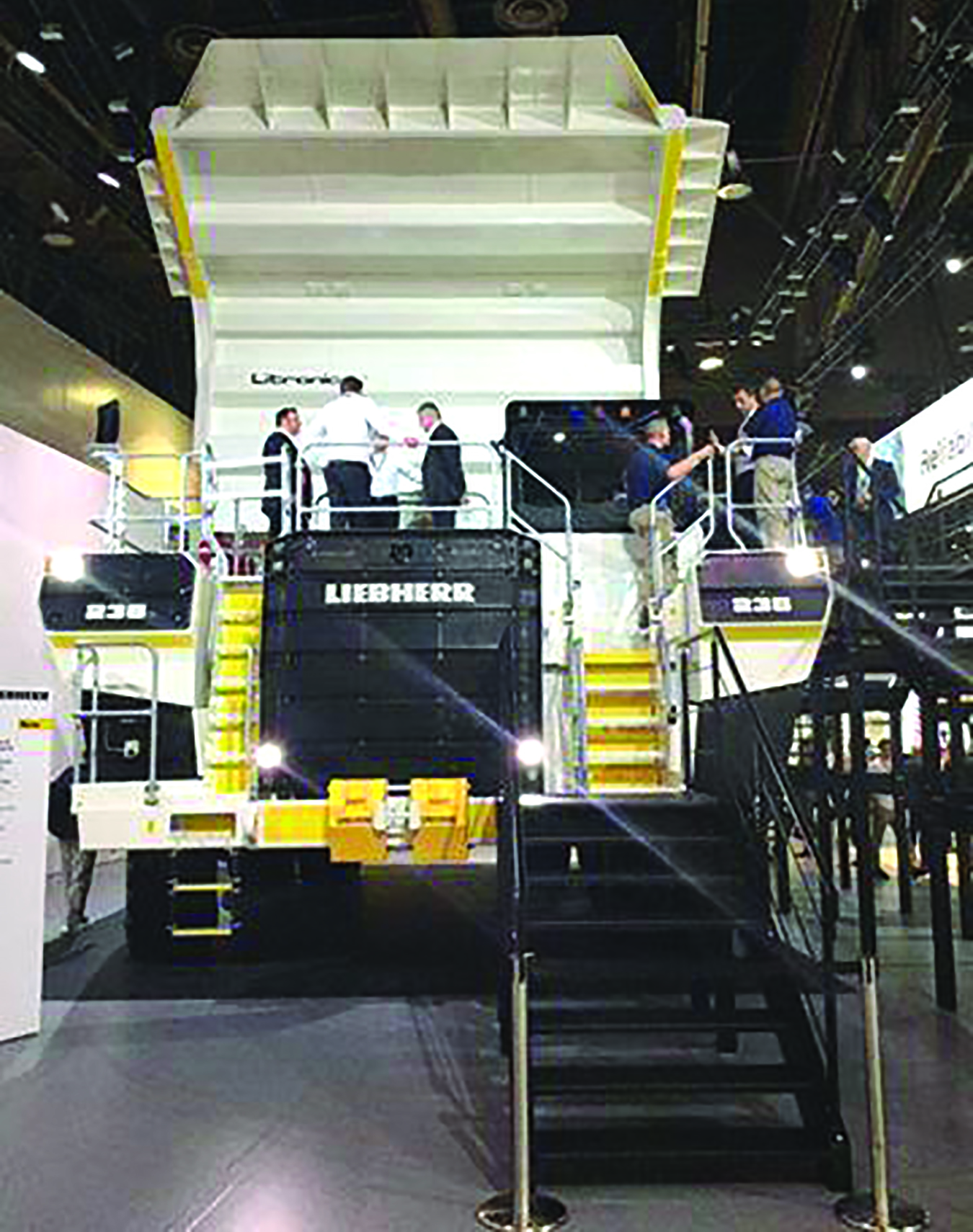 Liebherr says its T 236 is the first diesel electric truck in class to incorporate an oil-immersed braking system with four-corner retarding capabilities.