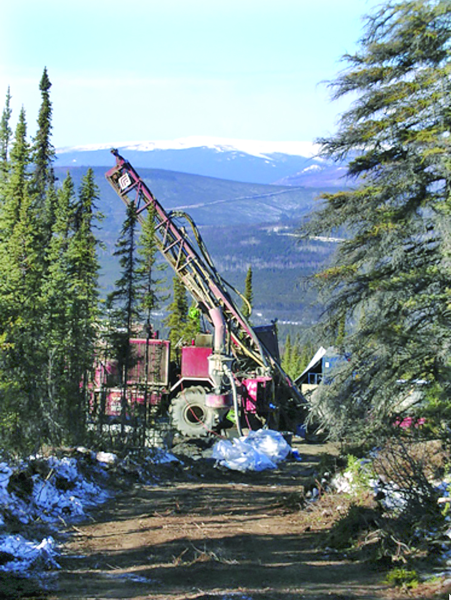 Exploration drilling at the Livengood gold project, 70 miles northwest of Fairbanks, Alaska. (Photo: International Tower Hill Mines)