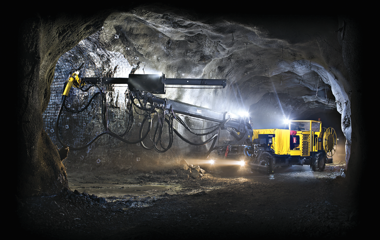 Atlas Copco claims that its Meyco ME5 wet-mix spraying rig offers optimized admixture accuracy and less rebound.